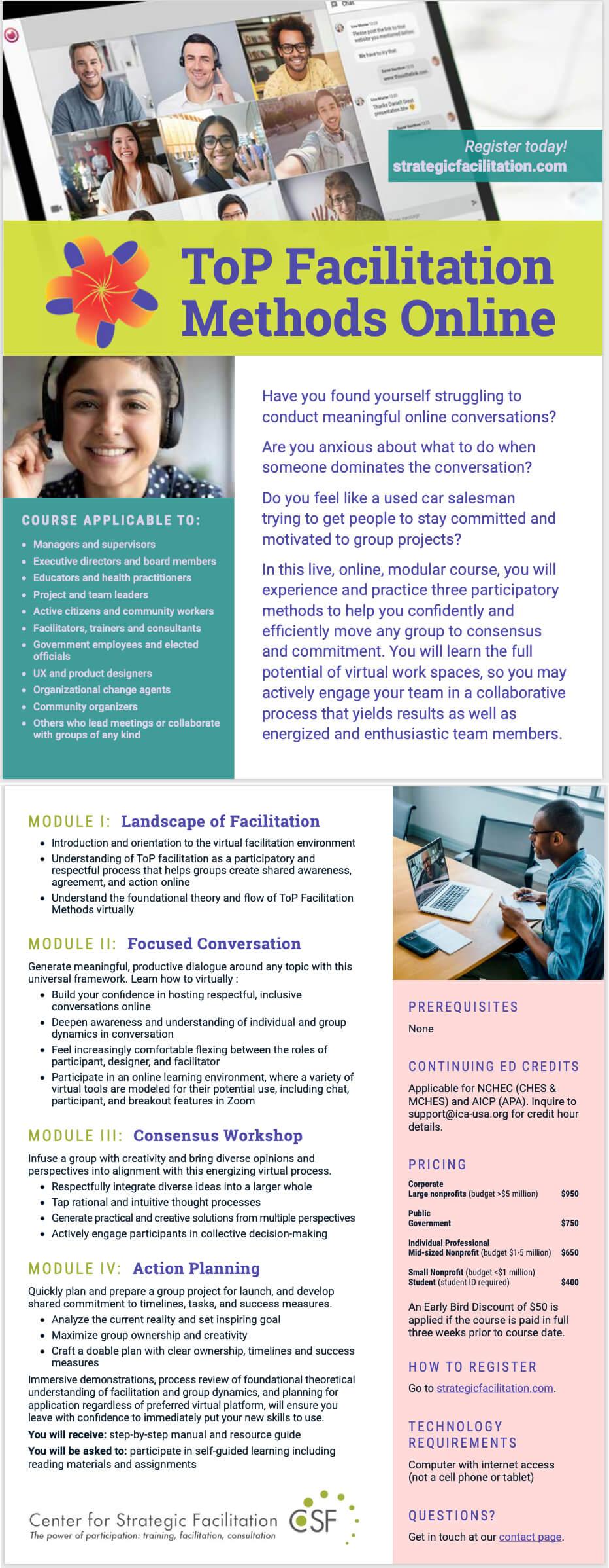 Top Facilitation Methods Brochure